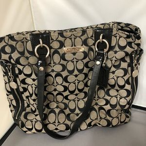 Signature Coach Top Handle Tote.  Great Condition!